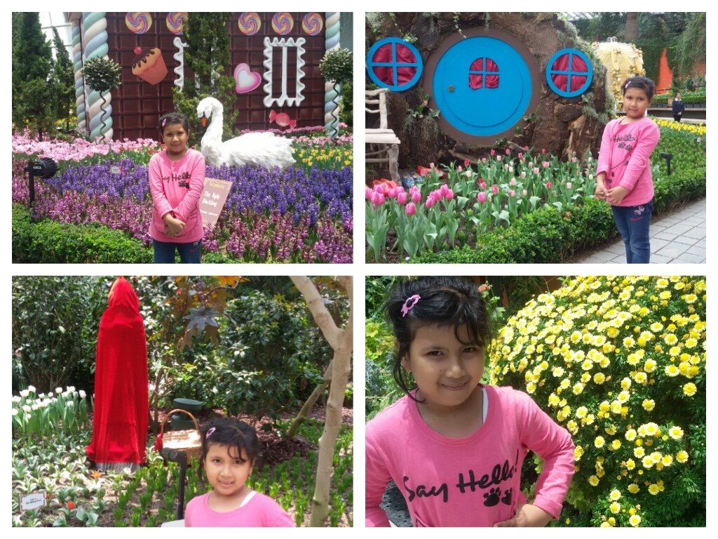 Nadia had so much fun at Flower dome