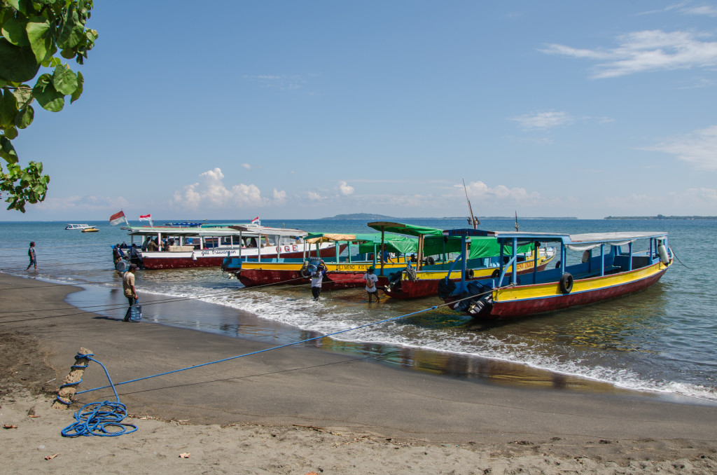 kapal yg digunakan utk menyebrang ke Gili Trawangan