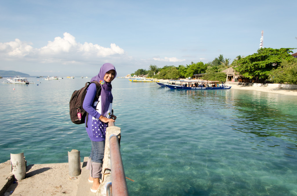 me and my backpack went to Gili Trawangan
