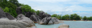 keindahan pantai Tanjung Tinggi, Belitung