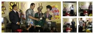 penyerahan piala&medali dr LEPRID kepada Lunpia Delight