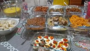 menu lebaran ala Aceh yg serba pedas dan santan