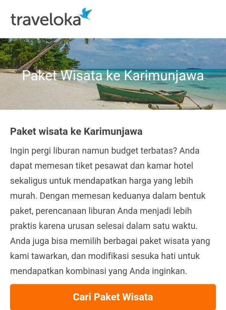 Paket wisata Karimunjawa traveloka