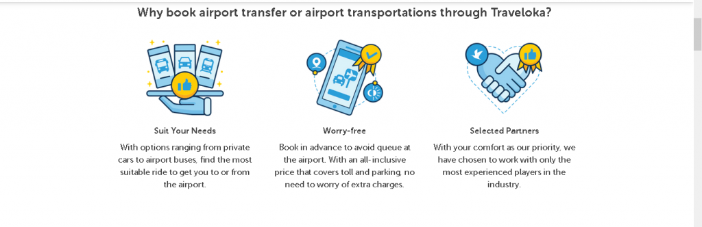 booking airport shuttle bus via Traveloka
